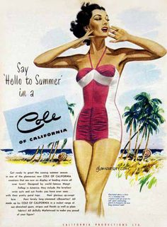 Cole of California vintage ad swimsuit / bathing suit - www.MadMenArt.com #VintageAds #SexAppeal