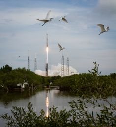 The United Launch Alliance Atlas V rocket with NASA's Mars Atmosphere and Volatile EvolutioN (MAVEN) spacecraft launches from the Cape Canav...