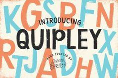 Quipley Font by Jamie Bartlett on @creativemarket