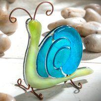 J. Devlin fused glass snail