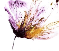"""""""Art Flower Painting, Purple Wall Art, Abstract Floral Art"""" - Acrylic On Cotton Ragg Paper, in Floral and Flower Paintings"""