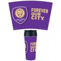 Orlando City SC Wincraft Forever Our City MLS 16 oz. Contour Travel Coffee Mug