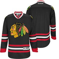 86c7587a2fa Get this Chicago Blackhawks Black Premier Jersey at ChicagoTeamStore.com