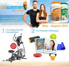 The Growing Naturals Summer Fit Challenge 2015 has begun. Enter to win monthly prizes and the grand prize elliptical!  http://growingnaturals.com/gn-fit-challenge/