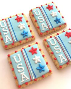 USA Tile Cookies 4 cookies by SunshineBakes on Etsy, $12.00