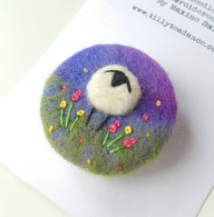 Check out this item in my Etsy shop - felted and embroidered sheep brooch by Tilly Tea Dance https://www.etsy.com/uk/listing/454990330/angelina-the-sheep-hand-crafted-brooch