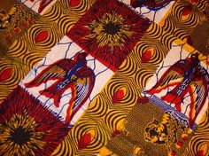 African print with primary color scheme