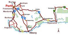 Perth to esperance driving directions & alternate tourist drive Road Maps Western Australia, Australia Travel, Road Maps, Australian Road Trip, Tourist Information, Driving Directions, Travel And Tourism, Perth, Trips