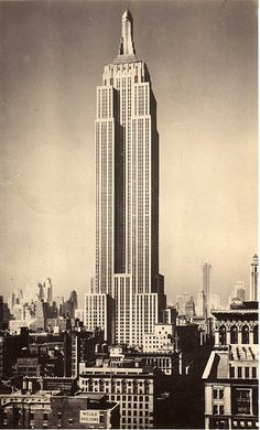"""#Architecture on #Pinterest  """"The Empire State Building view looking north may 1931"""" (without King Kong)"""