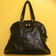 yves saint laurent leather handle bag