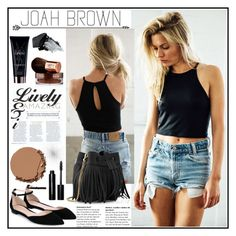 """""""Joah Brown 2"""" by gaby-mil ❤ liked on Polyvore featuring Gianvito Rossi, Whistles, Urban Decay, Vita Liberata, Bobbi Brown Cosmetics, Yves Saint Laurent, Gorgeous Cosmetics and joahbrown"""
