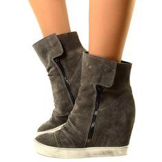 scarpe donna converse alte con zeppa
