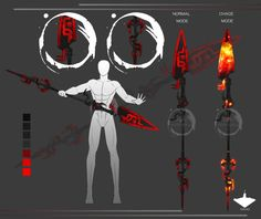 Heat spear by tiwlymaster on DeviantArt Ninja Weapons, Anime Weapons, Fantasy Weapons, Armor Concept, Weapon Concept Art, Cool Swords, Sword Design, Magic Art, Art Reference Poses