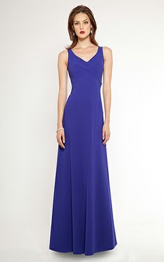 Royal Crepe Floor Length Evening Gown #TeriJon #AllisonWilliams