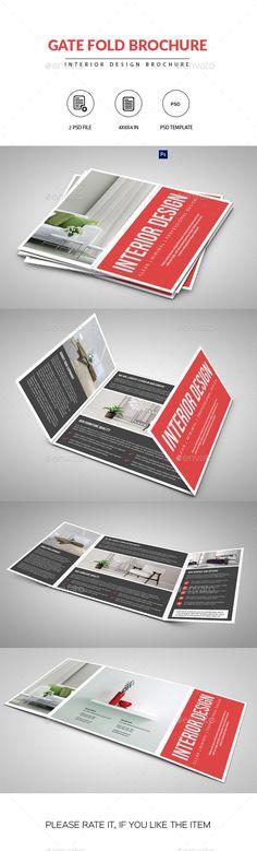 Gate Fold Interior Brochure-V458 Brochure Templates Pinterest - gate fold brochure mockup
