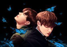 Jhope & Jin Butterfly Fanart [BTS]