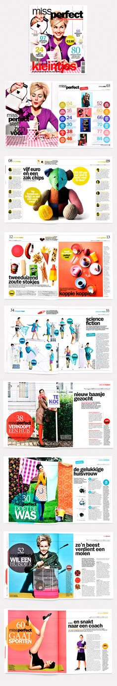 Magazine miss perfect Layout Grid Design Graphic Typograpy Photo