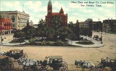 Main Plaza and Bexar County Courthouse, San Antonio, Texas  before 1910