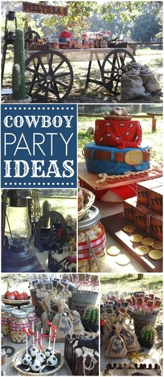 Check out this awesome cowboy outdoor party! See more party ideas at CatchMyParty.com!