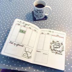 Bullet journal weekly layout, habit tracker, flower doodles, hand lettering.   @dottymcdots