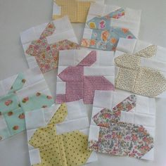 Hippity Hoppity #easterbunnies #patchwork #quilting