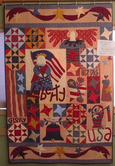 """BOM News… it's a Star Spangled Celebration!!! A NEW Block of the Month class is starting soon… Our fabulous teaching duo of Linda & JoAnne will be starting Star Spangled Celebration on Monday February 11th. The class will meet on the second Monday of the month for eleven months from 6:00pm 'til 9:00pm… The class fee is 12 per month. The Star Spangled Celebration quilt has a finished size of about 48""""x71"""". Original pattern design by Pat Wys & BJ Laird of Silver Thimble Quilt Company…"""
