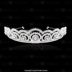 Tiaras Liga luxo com strass para casamento- BRL R$ 60,09
