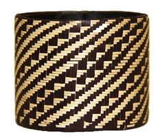 Caña Flecha Black And White Large Cuff, Colombia
