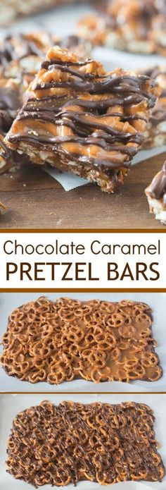 These simple Salted Chocolate Caramel Pretzel Bars will quickly become your new favorite sweet and salty t. These simple Salted Chocolate Caramel Pretzel Bars will quickly become your new favorite sweet and salty treat! Easy Dessert Bars, Oreo Dessert, Simple Dessert Recipes, Easy Candy Recipes, Appetizer Dessert, Quick Simple Desserts, Desserts For A Crowd, Classic Desserts, Simple Snacks
