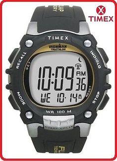 Timex Ironman 100 Lap Chrono Flix Watch BLACK / GREY - T5E231
