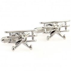 Silver #plane #Transportation  #Cufflinks #cufflinkspalace