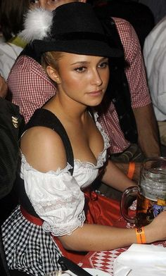 Funny pictures about Hayden Panettiere at Oktoberfest. Oh, and cool pics about Hayden Panettiere at Oktoberfest. Also, Hayden Panettiere at Oktoberfest photos. Hayden Panettiere, Oktoberfest History, Pretty Movie, Dirndl Dress, Beer Girl, German Girls, German Women, Oui Oui, Most Beautiful Women
