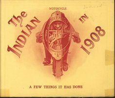 1908 Indian Motorcycle booklet