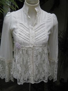 vintage victoriana pretty pleats lace and by sistersroseandruby