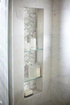 Arabescato Carrara 6 x 12 Marble Field Tile in White ideas small bathroom ideas bathroom ideas remodel bathrooms bathroom design Douche Design, Basement Bathroom, Master Bathrooms, Bathroom Cabinets, Master Shower Tile, Bathroom Mirrors, Bathroom Cleaning, Small Bathrooms, Shower Accent Tile