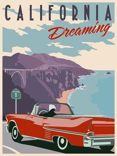 Vintage California poster