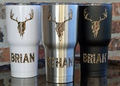 SIC 30 ounce Glacier Tumbler / Deer Skull Camo / by VinylGifts