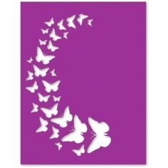Silhouette Design Store - View Design #61898: butterfly spray overlay