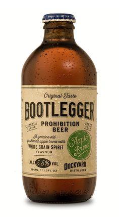 label / Bootlegger Apple Brew / beer