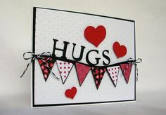 Banner Hugs by Pam MacKay - Cards and Paper Crafts at Splitcoaststampers