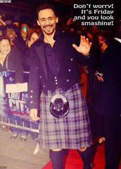Ok...thats enough. I can handle him in a suit..jeans...shorts..but a kilt??? Oh my!!! Too much hotness in one pic