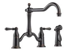 Tresa Two Handle Bridge Kitchen Faucet with Spray :: PC768 - VB1038