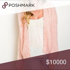 Arriving soon! Blush cozy cardigan! Fuzzy long sleeve button front chunky cardigan. Soft and beautiful Sweaters