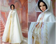 Bjd doll dress. Pre order Blue and silver elf dress for SD