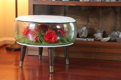 Incredible Inflatable Terrarium Footstool by WeeklyTreasureHunt.  Fabulous!  I had inflatable Barbie furniture as a child!