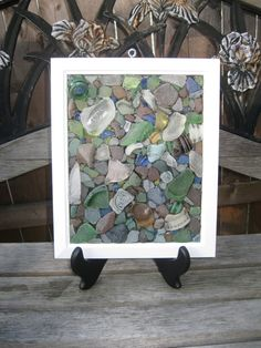 Large Sea Glass Mosaic....do this with my sea glass collection.