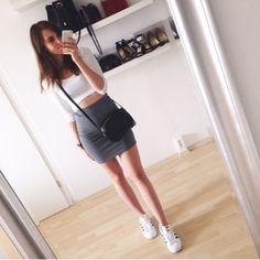 falda con vestido