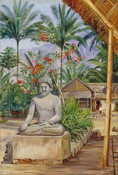 Marianne North. Kew Gardens Tropical Art, Tropical Prints, Beautiful Paintings Of Flowers, Marianne North, Forest Painting, Kew Gardens, Botanical Art, Pet Birds, Garden Art