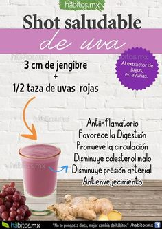 Shot de jengibre y uvas By Habitos.com