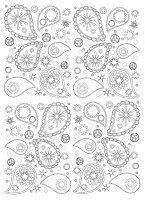 Display image coloring-paisley